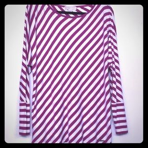 Michael Kors rayon striped shirt